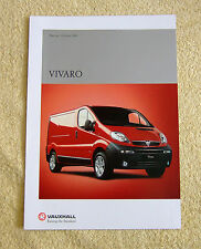 Vauxhall Vivaro Preview Brochure, October 2000. 8 pages