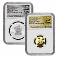 2017 NGC PF-69 35th Anniversary Chinese Panda Gold and Silver Proof Set