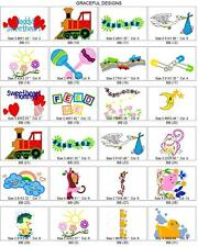 4,500+/- BABY & TODDLER BROTHER MACHINE EMBROIDERY COLLECTION ON CD PES DESIGN
