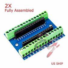 2X Nano Expansion Terminal Adapter Shield Arduino Nano V3.0 ATMEGA328P AU Board