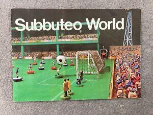 Subbuteo World Brochure Catalogue Early 80s