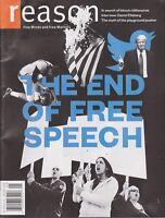 REASON MAGAZINE JANUARY 2018 THE END OF FREE SPEECH NEW SHIPS FREE