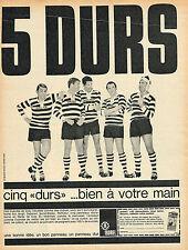 PUBLICITE ADVERTISING 114  1964  ISOREL   panneaux de bois 5 DURS