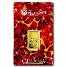 10 gram Gold Bar - Perth Mint Oriana Design (In Assay) - SKU #23561