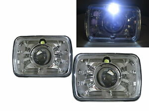 R10 Suburban 87-88 SUV/Pickup 2D/4D Projector Headlight Chrome V2 for Chevy LHD