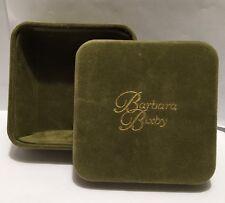 Barbara Bixby Jewelry Travel Storage Velvet Green Bracelet Gift Box