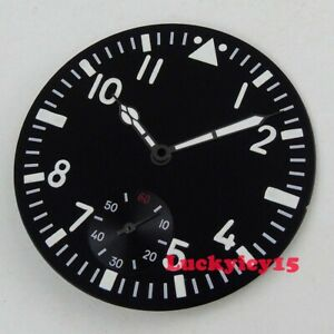 PARNIS Vintage 38.9mm watch dial fit for ETA 6498 hand winding movement + hands