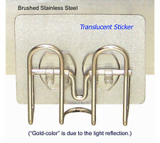 *Non-Suction-Cup* Kitchen Sink Sponge Holder II by StickerNizer, Stainless Steel