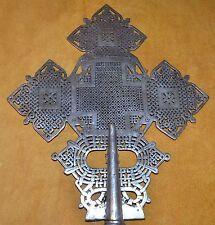 Large Handmade Ethiopian Coptic Christian Processional Cross, Ethiopia Africa