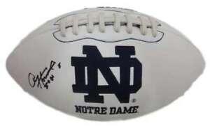 Paul Hornung Autographed/Signed Notre Dame Logo Football 56 HT JSA 19077