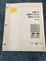 Hewlett Packard HP 8755A Swept Amplitude Analyzer Operating and Service Manual