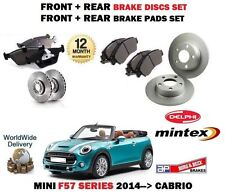FOR BMW MINI 1.5 D + COOPER 2014-> FRONT + REAR BRAKE DISCS SET + DISC PADS KIT