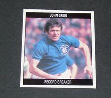 RB35 JOHN GREIG RECORD GLASGOW RANGERS GERS SCOTLAND FOOTBALL ORBIS 1989-1990
