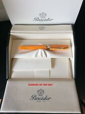 PINEIDER AVATAR SAFFRON YELLOW & RHODIUM FOUNTAIN PEN 'MED' NIB NEW IN BOX $280