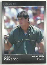 Jose Canseco 1991 Star Company Oakland A's Silver Series Promo Card (400 Made)