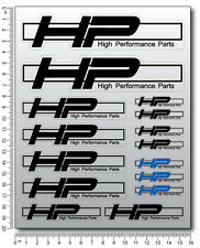 HP performance parts motorcycle decal set 15 stickers s1000R s1000RR hp4 hp2 hp6