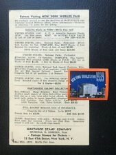 1939 New York World Fair - Philatelic Advert Postcard & Cinderella Stamp ref272
