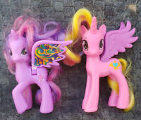 G4 My Little Pony PRINCESS CADANCE + Twilight Sparkle Brushable Figure MLP FiM
