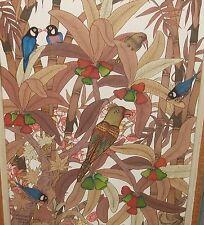 I WAYAN ORIGINAL ACRYLIC ON CANVAS BIRDS PAINTING PENESTAMAN UBUD BALI