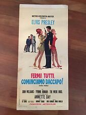LOCANDINA 1967,Elvis Presley,Fermi tutti,cominciamo daccapo Double Trouble, S/8
