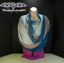 Nepalese Blue Mix Colored Handloom Boarder Scarves Shawl Stole