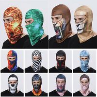Outdoor Full Face Mask Balaclava lycra Ski Neck Sun Ultra UV Protect Thin Summer