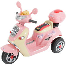 Kids Motorcycle Electric Scooter Motorbike 6V Battery Ride on Toy Bike in Pink
