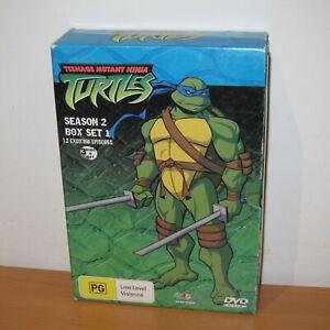 Teenage Mutant Ninja Turtles Season 2 Box Set 1 ( DVD , 12 Episodes , Region 4 )