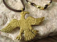 Unisex African Brass Eagle Pendant Tribal Necklace Mens Handmade USA