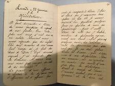 Cahier MANUSCRIT De 95 Pages Prêche Conférence Discours RELIGION CATHOLIQUE 1900