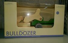 Pottery Barn Kids Toy Green Wooden Bulldozer Holiday Christmas Toy