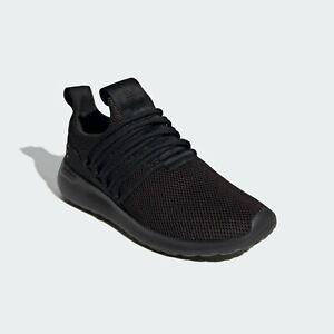 Mens Adidas Lite Racer Adapt Wide Black Athletic Slip On Shoe GV9691 Size 10-14
