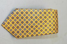 Ermenegildo Zegna Men's Geometric Pattern Yellow Tie MSRP $195