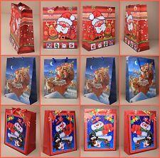 Pack of 12 Wholesale Christmas Gift Bags Bag Packaging Xmas Paper Bags
