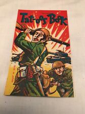 Vintage Lucky Military Army Tat-oos Book Booklet Removable Color Tattoos 1950's