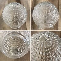 Vintage Clear Glass MCM Ceiling Light Globe Shade Glass Ball (1)