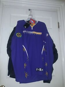 Los Angeles Sparks LA Warm-up Long Sleeve basketball Shirt Jersey WNBA Adidas L