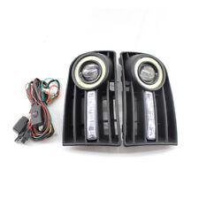 PAIR FOG LIGHTS LAMPS GRILLE & WIRING KIT H3 FIT FOR VW GOLF 5 MK5 RABBIT 03-09