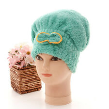 QUICK DRY MAGIC HAIR TURBAN TOWEL MICROFIBRE HAIR WRAP BATH TOWEL CAP HAT (New)