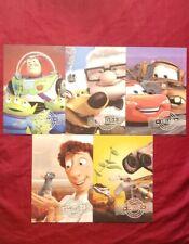 Disney Pixar Send a Hello full Set of 5 post cards 2011
