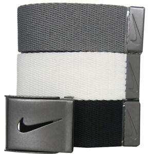 Nike Golf Men's 3-in-1 Web Belts, One Size Fits Most