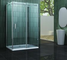 INCLUDO 120 x 90 x 200 cm Glas U Duschkabine Duschtasse Dusche Duschabtrennung