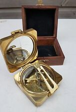 "Vintage Nautical 3"" Square Heavy Brass Brunton Compass Steampunk"