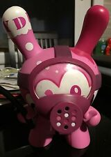"""SIGNED SOLD OUT Kidrobot PINK TAG TEAM 8"""" DUNNY Tristan Eaton Vinyl Figure"""