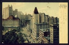 Old Postcard written in 1904 UNITED STATES Broadway looking South, NEW YORK CITY