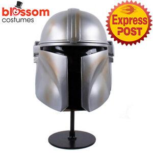 N266 The Mandalorian PVC Helmet Cosplay Prop Mens Halloween Cosplay Costume Mask