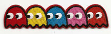 Pacman Ghosts Embroidered Patch Iron-on Motif 9.8x2.2cm Art Good Luck Magic