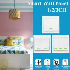 Wireless Smart Light Switch 433Mhz RF Remote Wall Touch Panel Socket  G N E