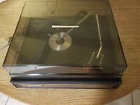 Vintage GARRARD Electrophonic 2025TC 4 Speed Turntable w/ Dust Cover PARTS ONLY
