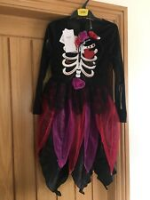 M&S Girls Black & Pink Fancy Dress Witch Skeleton Costume Brand New RRP £20